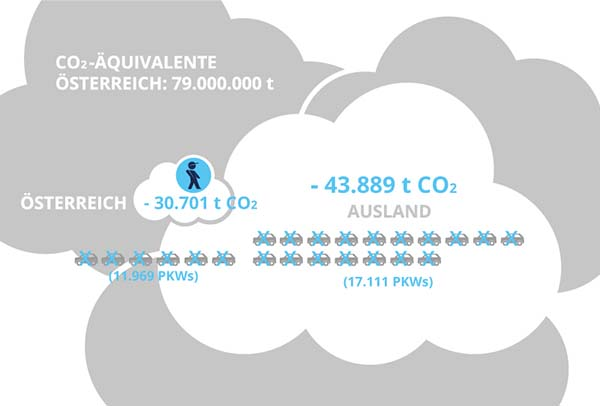 Von RepaNet-Mitgliedern eingesparte Emissionen