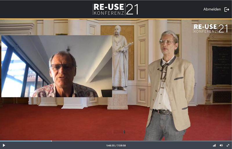 Moderator Matthias Neitsch (GF RepaNet) mit DI Dr. Willi Haas